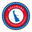 Stock Vector: Label Delaware