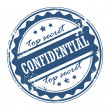 Stock Vector: Stamp Confidential - Top secret