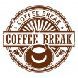 Royalty-Free Stock Vector Image: Coffee break stamp