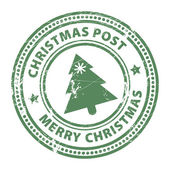 Christmas Post stamp — Stock Vector
