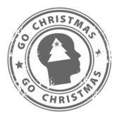 Go Christmas stamp — Stock Vector