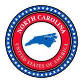 Label North Carolina — Stock Vector