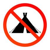No camping — Stock Vector