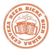 Stamp beer — Stock Vector