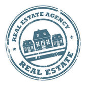 Real estate agency stamp — Stock Vector