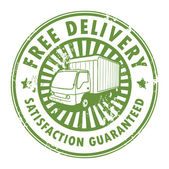 Stamp Free Delivery — Stock Vector