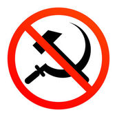 No communism — Stock Vector
