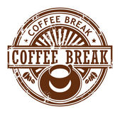 Coffee break stamp — Stock Vector