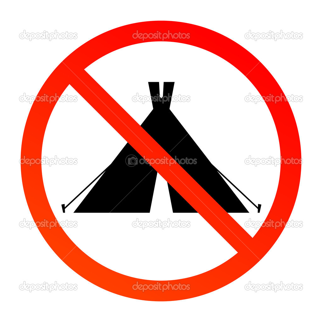 No camping sign  Stock Vector #11637943