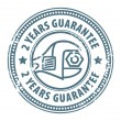 2 years guarantee stamp — Stock Vector