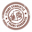 5 years guarantee stamp — Stock Vector