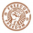 Stock Vector: Freedom stamp