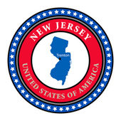 Label New Jersey — Stock Vector
