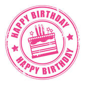 Selo de feliz aniversário — Vetorial Stock
