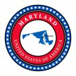 Label Maryland - Stock Vector