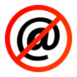 Royalty-Free Stock Vector Image: No mail or internet