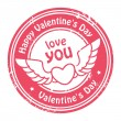Stock Vector: Happy Valentine's Day stamp