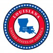 Label Louisiana — Stock Vector