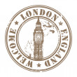 London, England stamp — Stock Vector #11740695