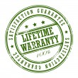 Stock Vector: Lifetime warranty stamp