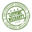 Lifetime warranty stamp - Stock Vector