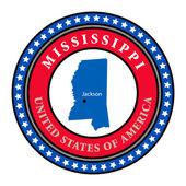 Label Mississippi — Stock Vector