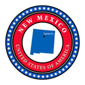 Label New Mexico — Stock Vector