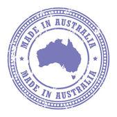 Made in Australia stamp — Stock Vector