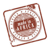 Stamp made in Africa — Stock Vector