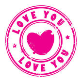 Love you stamp — Stock Vector