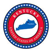 Label Kentucky — Stock Vector