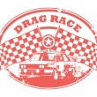 Drag Race stamp — Vektorgrafik
