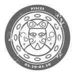 Zodiac Pisces — Stock Vector