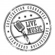 Stock Vector: Live music stamp