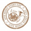 Life music stamp — Stock Vector