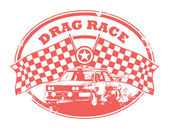 Drag Race stamp — Vettoriale Stock