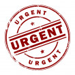 Stock Vector: Urgent stamp