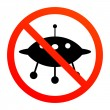 Stock Vector: No UFO sign