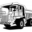 Royalty-Free Stock Vector Image: Dump truck
