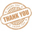 Stock Vector: Thank you stamp