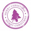 Royalty-Free Stock Векторное изображение: Xmas Tree stamp