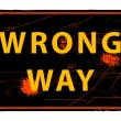 Wrong Way sign — Stock Vector