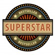 Label with word Superstar — Stock Vector #11854520