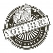 Vote here stamp - Stock Vector