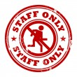 Staff Only stamp — Stock Vector