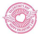 счастливый день святого валентина штамп — Cтоковый вектор