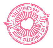 Happy Valentine's Day stamp — Vettoriale Stock