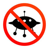 No UFO sign — Stock Vector