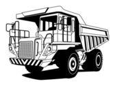Autocarro con cassone ribaltabile — Vettoriale Stock