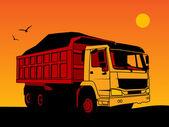 Dump truck — Stock Vector